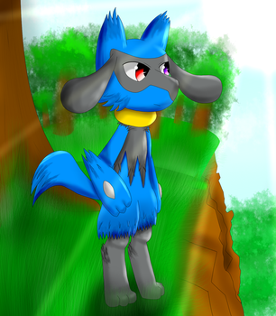 Riolu Comic practice (New shading and design) by XetaJTS