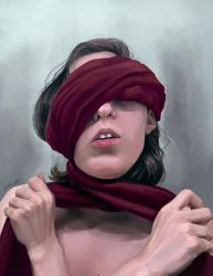 Bound (Self-Portrait) by pinearts