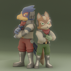 Fox and Falco by SmashingRenders