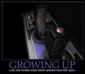 Motivational Poster - 'Growing Up' by peterhirschberg