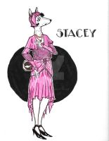 Stacey-art-nouveau-Print by CopperSphinx