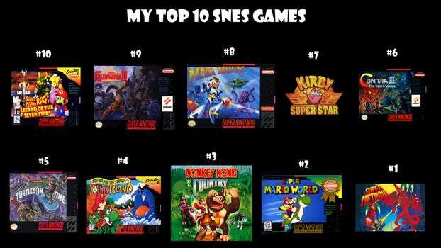 My Top 10 SNES Games by Alexmination98
