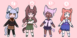 [PRICE REDUCED] Kemonomimi Adoptables [OPEN] by SilaCinnamon