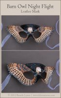 Barn Owl Night Flight - Leather Mask by windfalcon