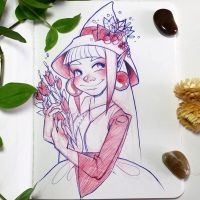 Inktober Day 1 - Cute Witch by Mystinaa