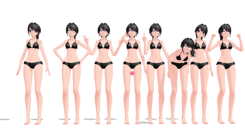 (MMD) Pose Pack 1 by fanartiquess