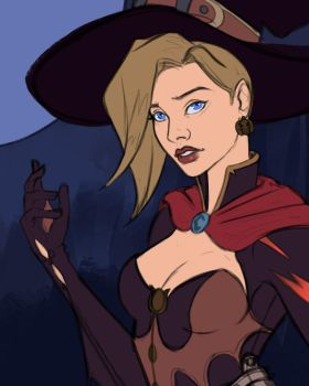 Witch Mercy Fan Art by Cazareal