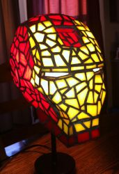 Iron Man Stained Glass Helmet by mclanesmemories