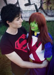 Young Justice: Miss Martian and Superboy by Cateography