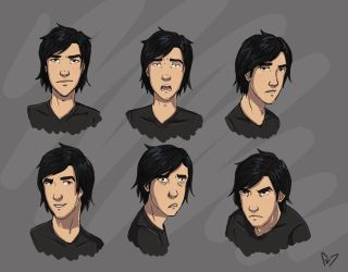 Iain Expression Sketch by Blue6
