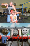 Dog Collar Match scares Gordon, James and Henry by EarWaxKid