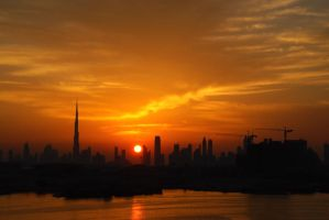 Dubai sunset by Natacha3