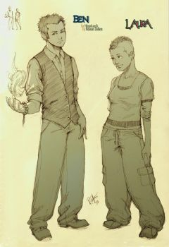 Commissh - Ben and Laura by kasai