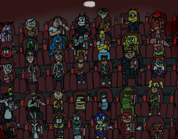 Another Day at the Movie Theater (Art Collab) by BrendanDoesArt