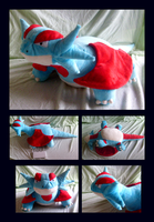 Salamence Plush by Lighiting-Dragon