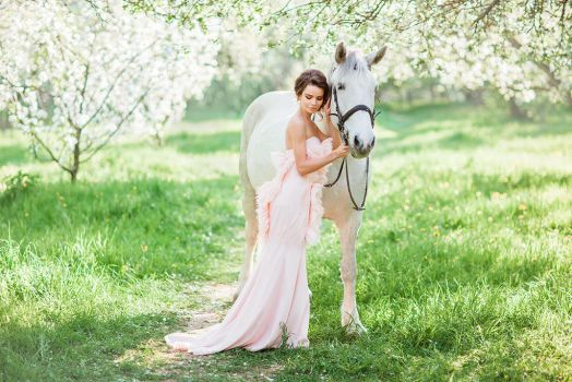 Spring, horse, bride by Swan-Lake