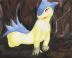 Typhlosion's burned forest by Darkanine