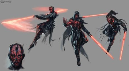 Darth Maul sketches by RAPHTOR