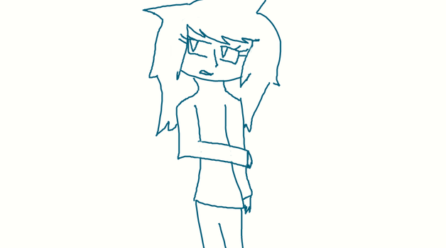 i drew this entirely with a mouse by Wolfia808