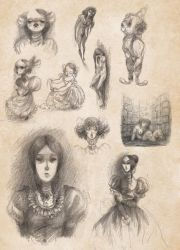 Creepy sketches by kyla79