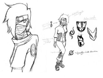 Naruto OC sketch sheet by Nausicaa-7
