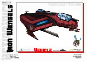 Action Mice vehicle concept iron hornet colored by stourangeau