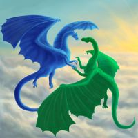 Saphira and Firnen by Aerophoinix