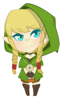 The Legend of Zelda - Linkle Chibi by justfream
