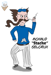 Monald 'Stache' Selcrux colored sketch (06/8/15) by SnD-Frostey