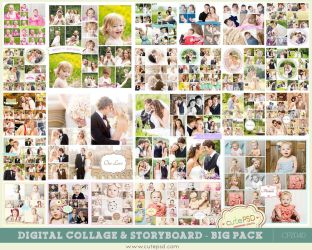Storyboard Templates Digital Collage - BIG PACK by constantine80