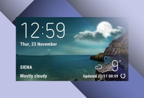Classic Style S8 Weather Widget for xwidget by Jimking