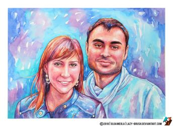 Portrait of couple by lazy-brush