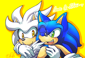 Sonic and Silver by Rilakkuma-kun