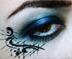 Black Lace Makeup by Lally-Hime
