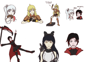 RWBY sketches Vol. 2 by GentlemanOrdo