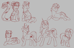 Rainbow Giveaway - Red - WIPs by MythPony