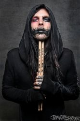Angelo Parente of Motionless In White  Vic Firth by JeremySaffer