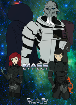 Mass Effect Comic Cover by TheYUO