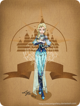 Disney steampunk: Elsa by MecaniqueFairy