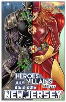 Heroes and Villains Fan Fest Official Show poster by batmankm