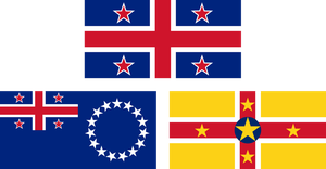 Flags of New Zealand, Cook Islands and Niue by hosmich
