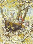 The combat of the prince with an aurochs. by Nikkolainen