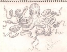Octopus Chest Tattoo Flash/Sketch by Bass-Slinger