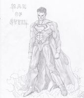 Man of Steel (Superman) Using Pencil by AplG7