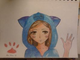 Aiko in Cat Hoodie finished by alan1230