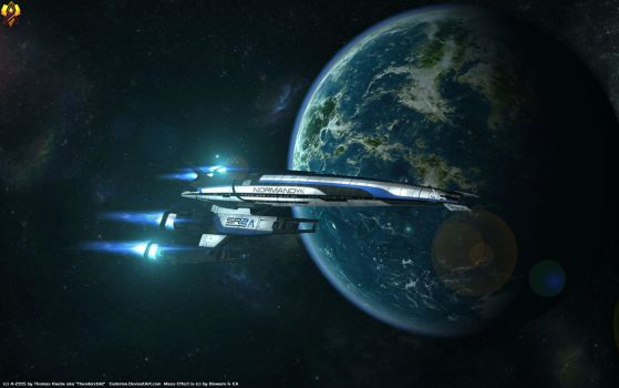 Mass Effect Normandy Wallpaper by Euderion