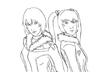 Nomi and Yue - Fuzzy Collar Jackets by WaffleFoxAlpha