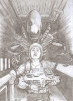 Aliens pencil by EmanuelMacias