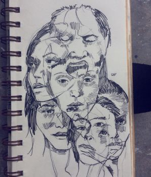 Faces V by Disegnophilia