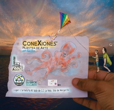 CONEXIONES FLYER expo by luiexs